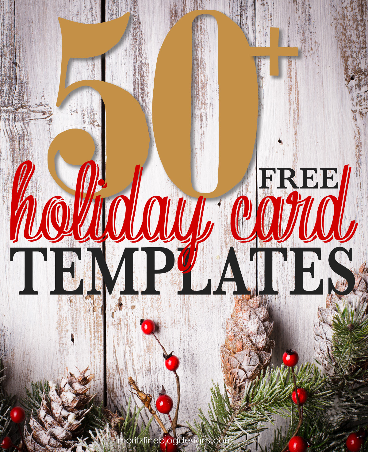 50 free holiday photo card templates moritz fine designs for Free christmas card templates