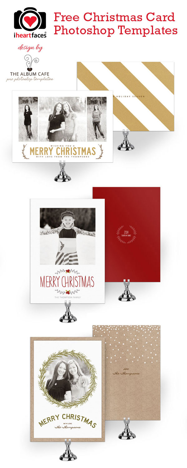 50   free holiday photo card templates