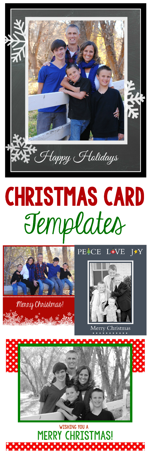 50 free holiday photo card templates moritz fine designs for Free complimentary cards templates