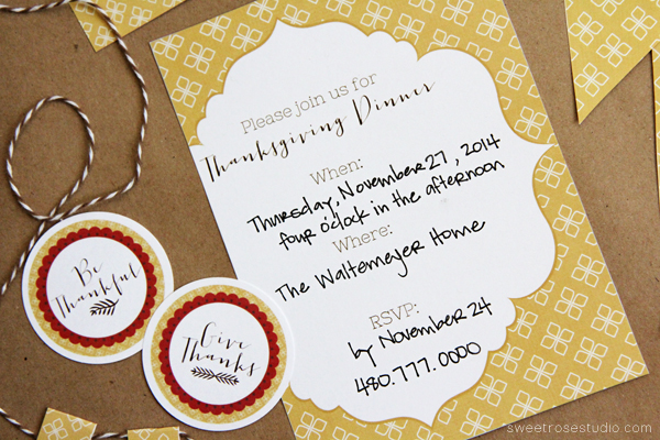 Give Thanks Party Printables 3 thanksgiving invitations friday favorite 5 moritz fine designs,Customize Invitations Free