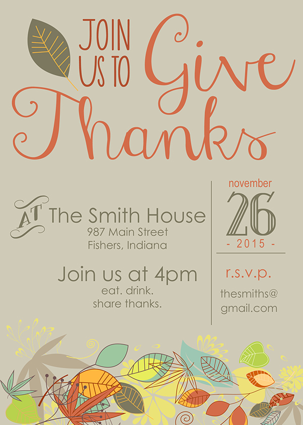 Thanksgiving Invitations  Friday Favorite   Moritz Fine Designs