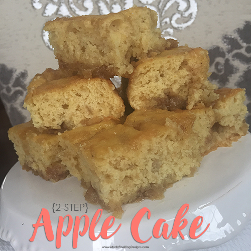 2-Step Apple Cake