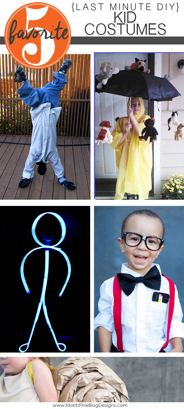 LAST MINUTE DIY KID HALLOWEEN COSTUMES | Friday Favorite 5