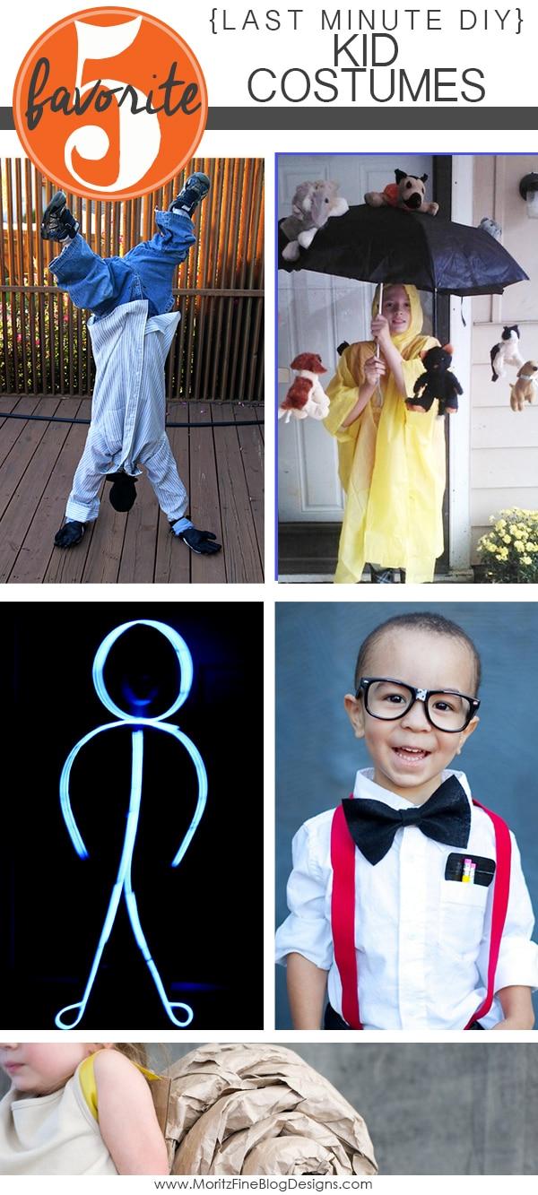 LAST MINUTE DIY KID HALLOWEEN COSTUMES | Friday Favorite 5