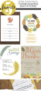 photograph about Free Printable Thanksgiving Invitations identify Thanksgiving Invites Friday Favourite 5 Moritz Great
