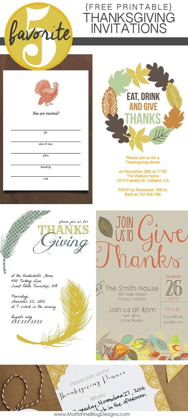 Thanksgiving Invitations | Friday Favorite 5