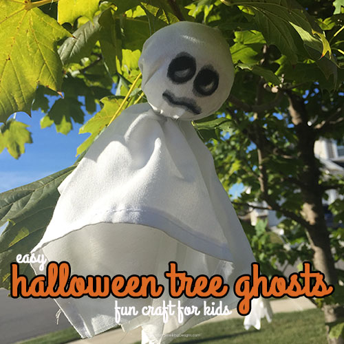 Halloween Tree Ghosts | Fun Craft for Kids