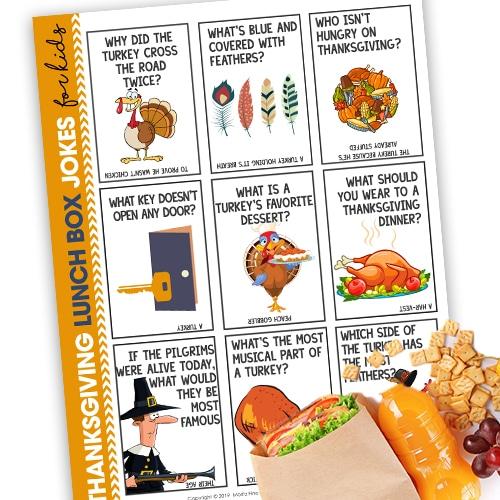 Thanksgiving Lunchbox Jokes