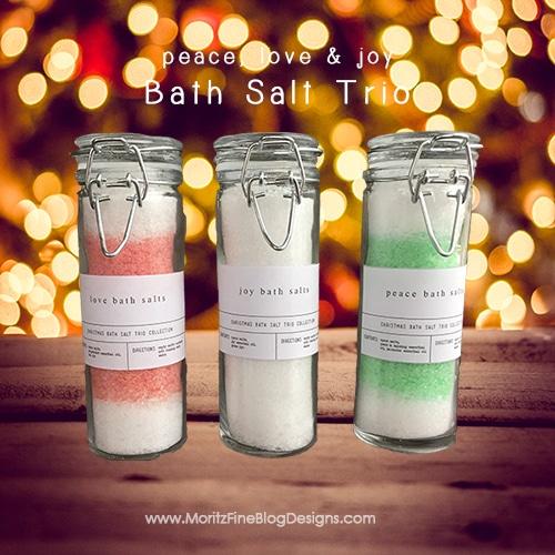 Holiday Bath Salt Trio