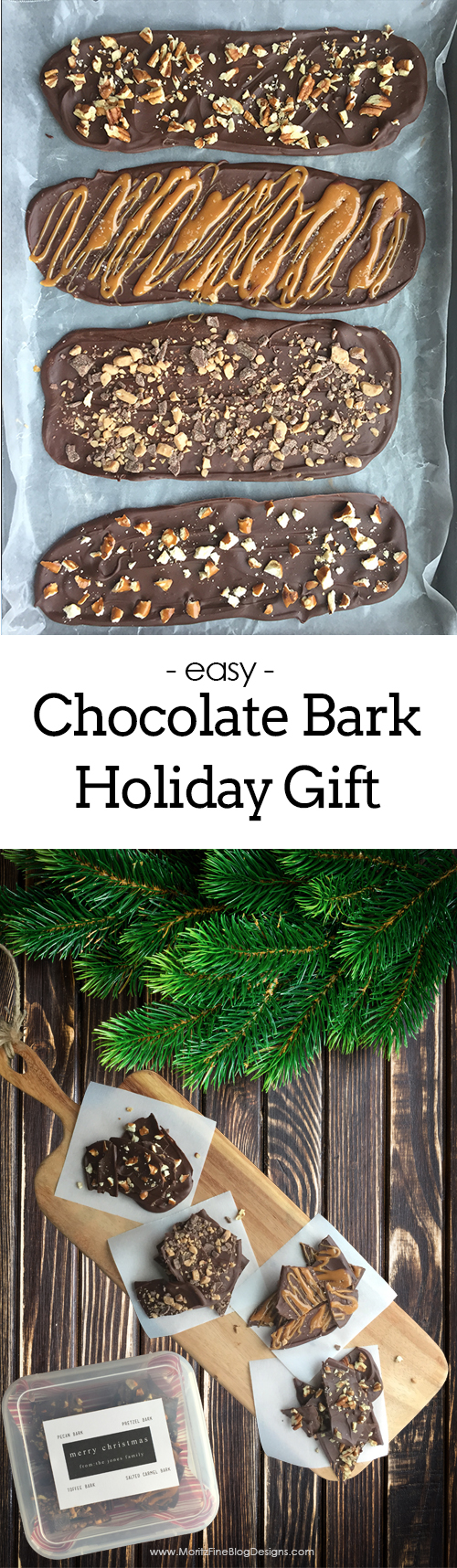 chocolate bark recipe | edible holiday gifts | homemade gifts | holiday gifts | free printable