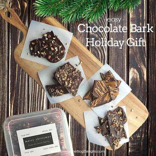 Chocolate Bark Holiday Gift Idea