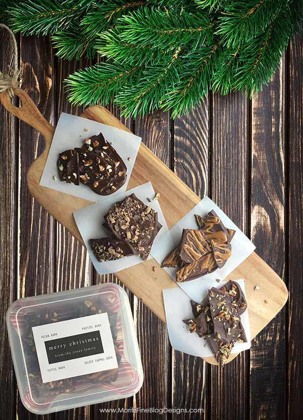 Bless your neighbors, friends, family and teachers with this super easy chocolate bark. Perfect last minute gift idea, takes less than 10 minutes to make!