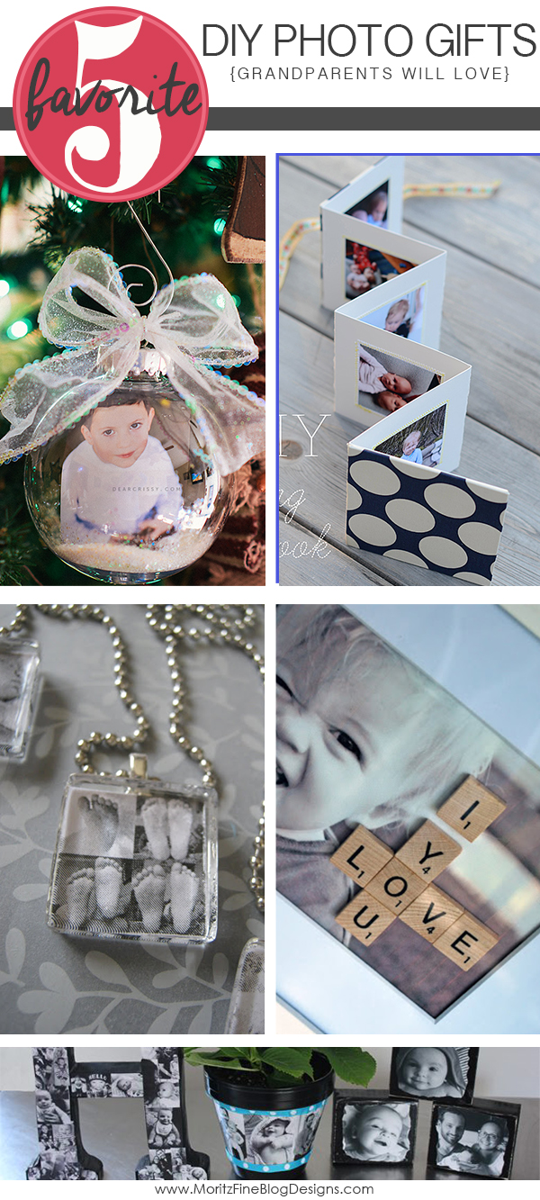 DIY Photo Gift Ideas for Grandparents | Friday Favorite 5