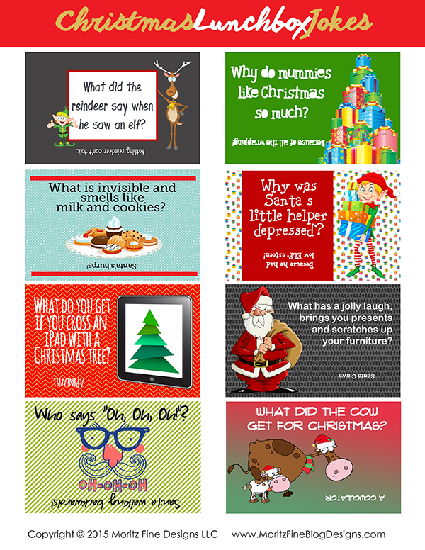 Christmas Jokes Kids.Christmas Lunchbox Jokes For Kids Free Printable