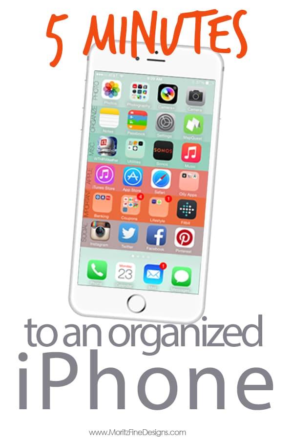 iPhone Tutorials | iPhone 6 | organize your iPhone | get organized | phone organization