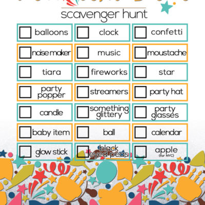 New Year's Eve Scavenger Hunt for Kids | New Year's Eve ideas for kids | New Year's Eve party ideas for kids | New Year's Even printables | free printable