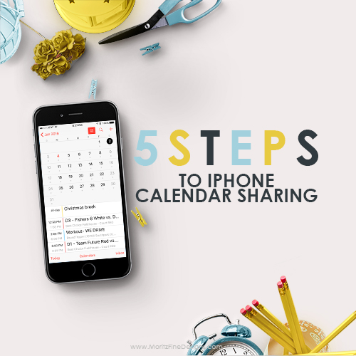 5 Steps to iPhone Family Calendar Sharing