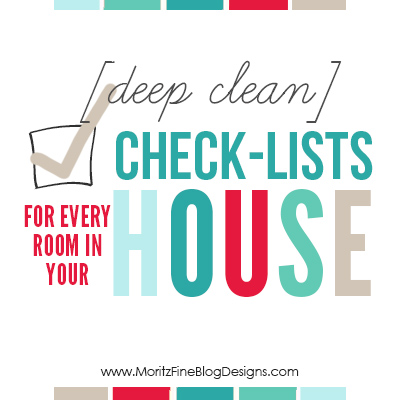 Download this binder of free [deep clean] Check-lists for every room in your house. Laminate and reuse year after year!
