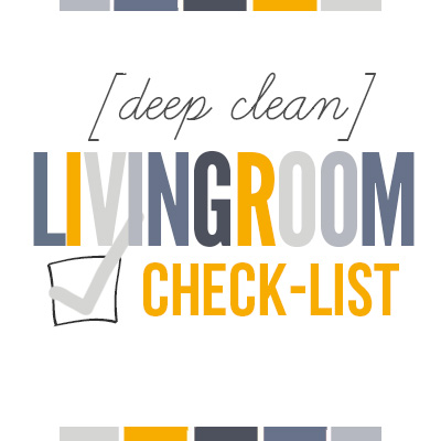 Get your living room clean in no time at all with this free printable [deep clean] Living Room Checklist.