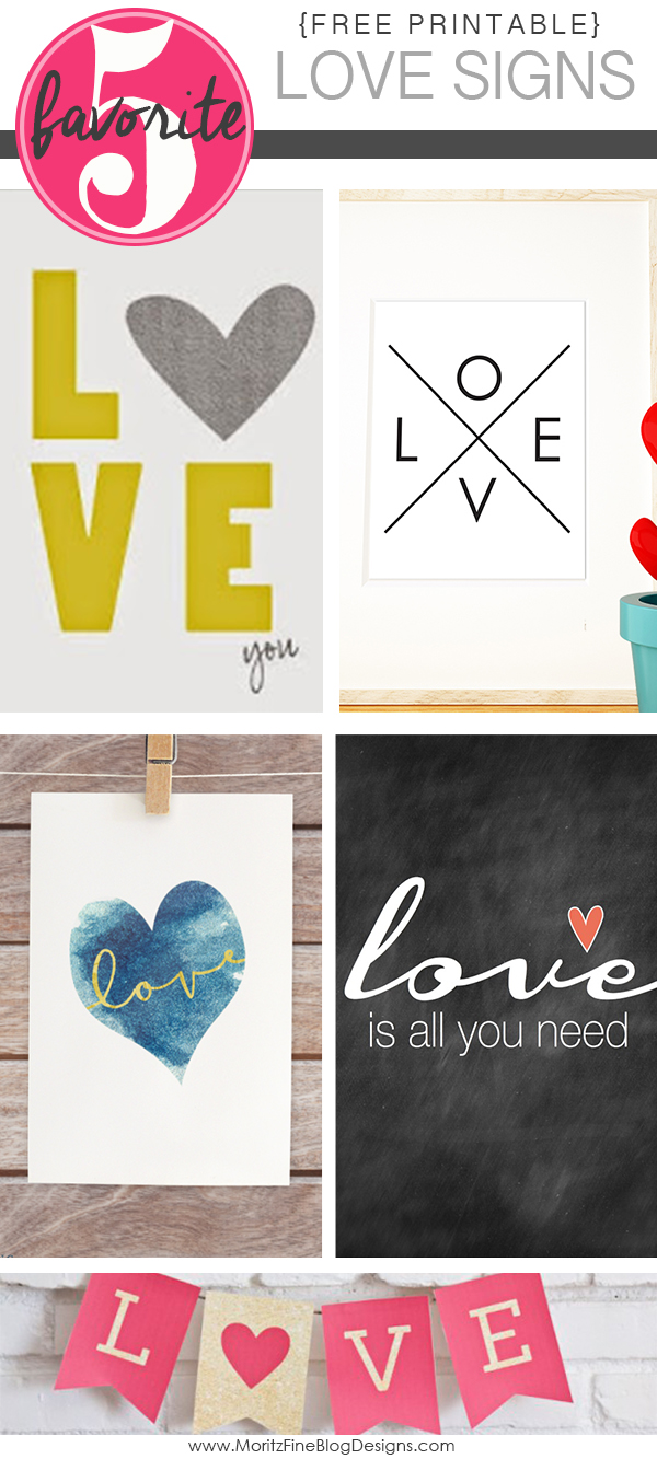 Free Printable Love Signs | Friday Favorite 5