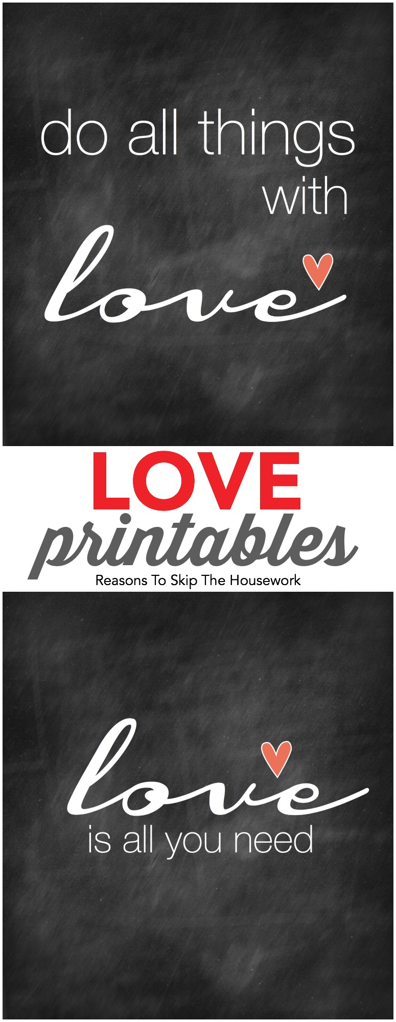 You can grab one of these cute Free Printable Love Signs to use to help decorate your home this Valentine's Day!