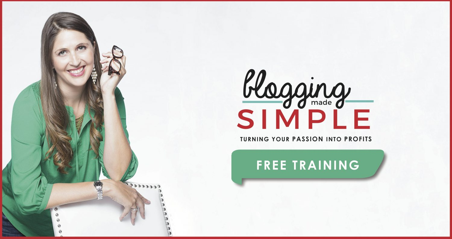 Feel like you are spinning your wheels with your blog? Blogging Made Simple Free Training will get your blog off and running like never before!