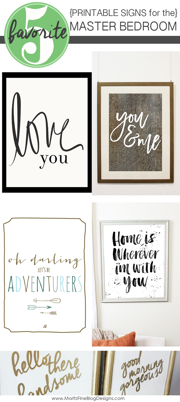 Signs For The Master Bedroom