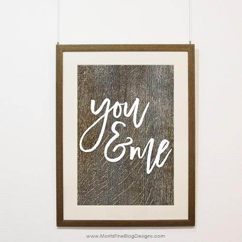 You & Me Sign | Free Printable