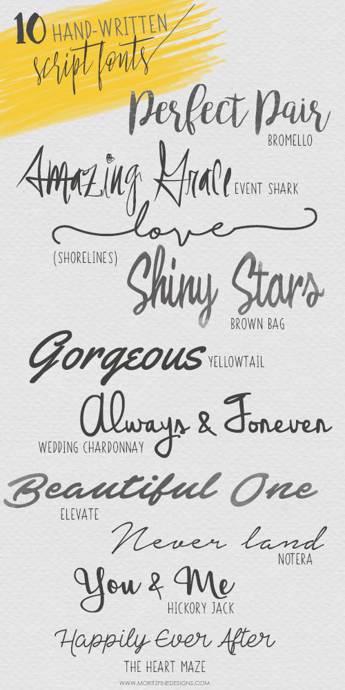 10 Must-Have FREE Hand-Written Script Fonts