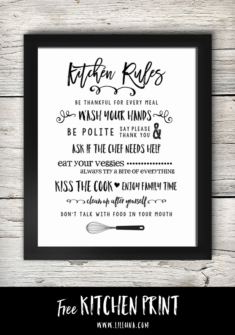 Free Printable Kitchen Signs Moritz Fine Designs