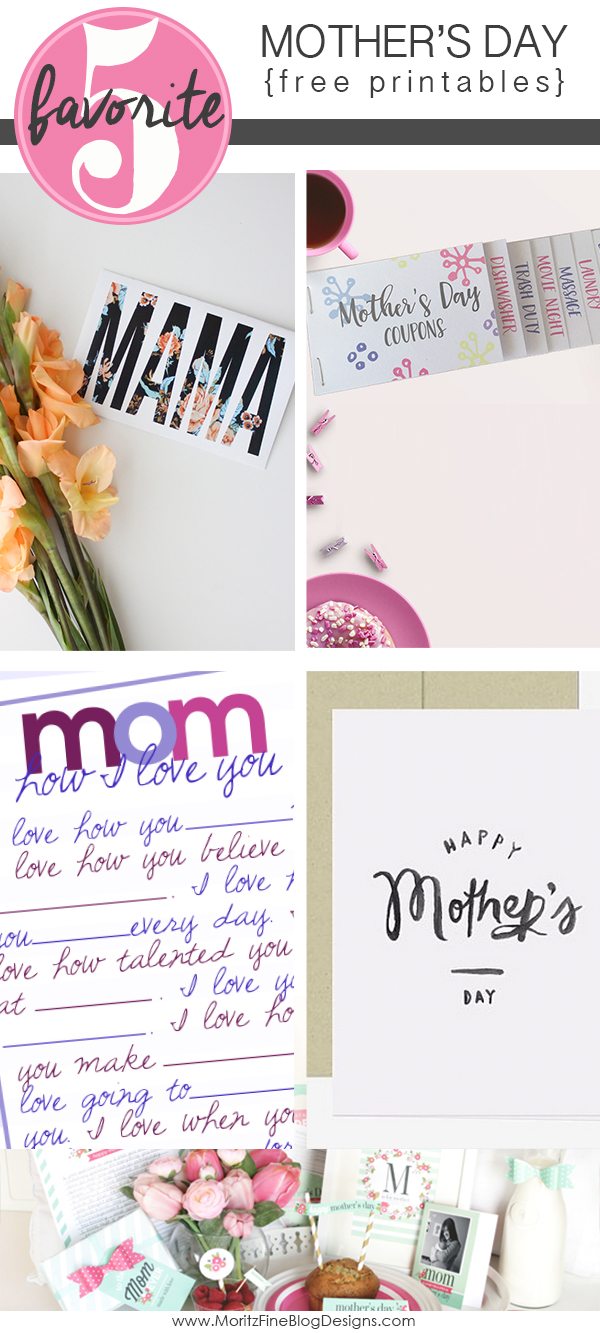 Mother's Day Free Printables | Friday Favorite 5