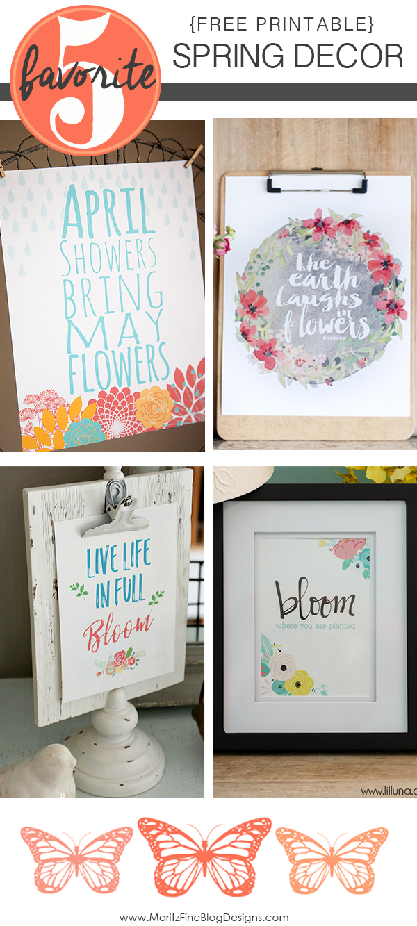 Spring Decor Free Printables | Friday Favorite 5