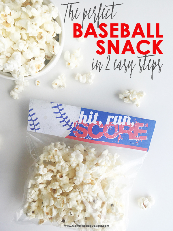 Need a baseball snack for after the game? Make your team players this healthy and yummy baseball snack in just 2 steps. Free printable download included!