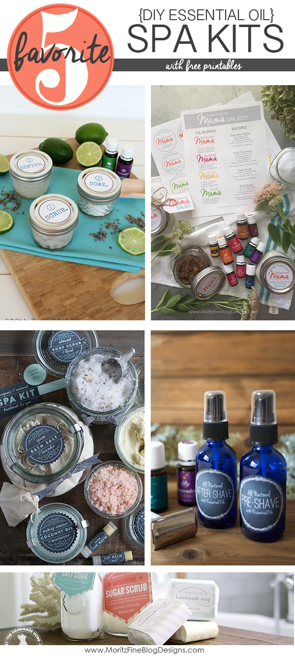 DIY Essential Oil Spa Kits