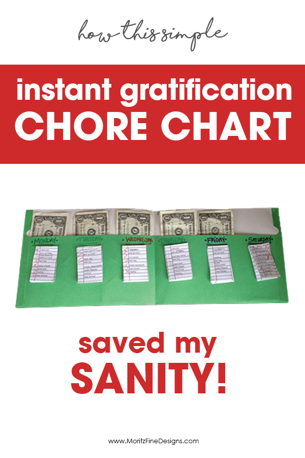 Instant Gratification Chore Charts | Chore Charts That Make Kids and Parent Happy