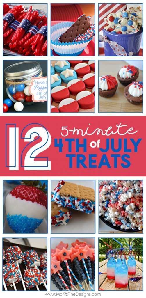 4th of July   holiday snacks   fast & easy treats   diy 4th of July food