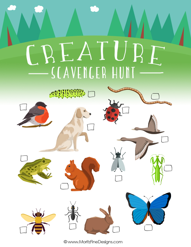 image relating to Printable Scavenger Hunt for Kids named Summer time Scavenger Hunt Exciting Free of charge Printable Activity for Young children