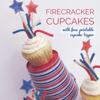 4th of July Cupcake Topper