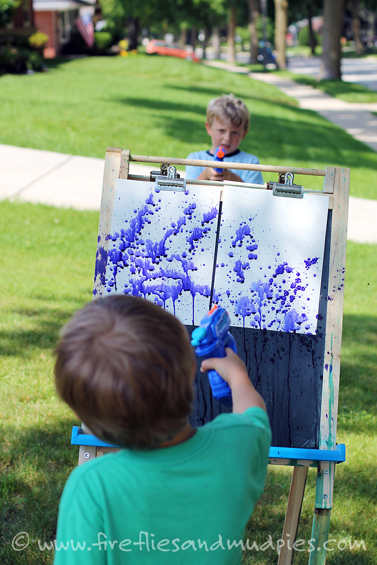 Over 25 summertime activities for boy of all ages for Best paint for outdoor crafts