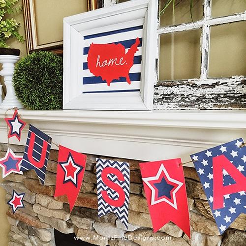 USA Printable Banner