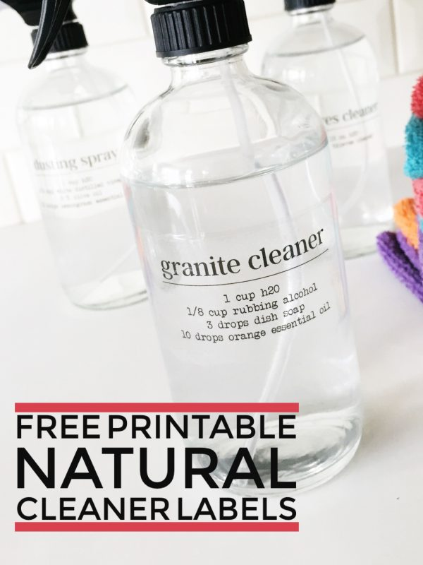 I kicked the chemicals out of our house by using these Free Printable Natural Cleaning Labels & Recipes! We love how they are safe and smell amazing!