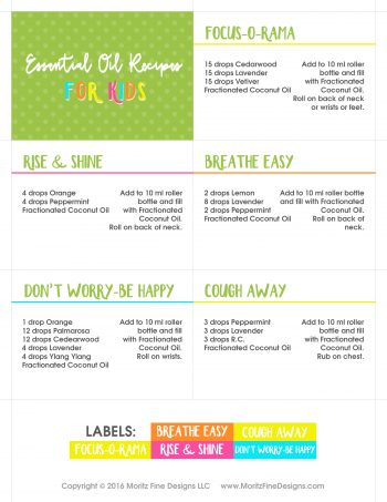 ESSENTIAL OIL RECIPES - kids-page1