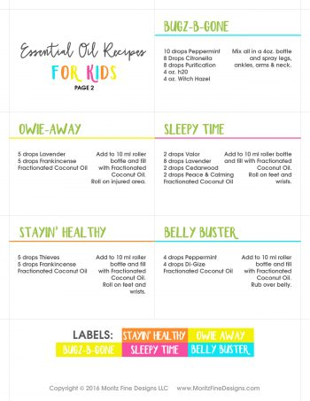 ESSENTIAL OIL RECIPES - kids-page2