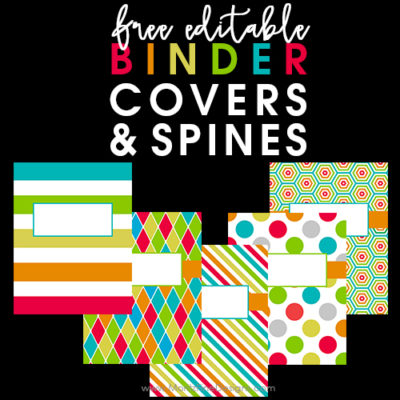 Back to School Binder Covers & Spines
