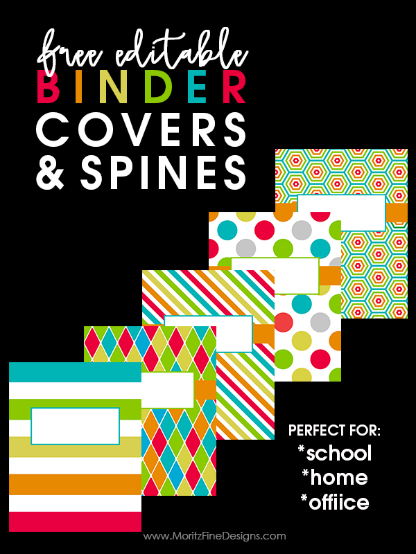 Organize your classroom, office or home with these Free Editable Binder Covers & Spines. Perfect for teachers, kids and adults!