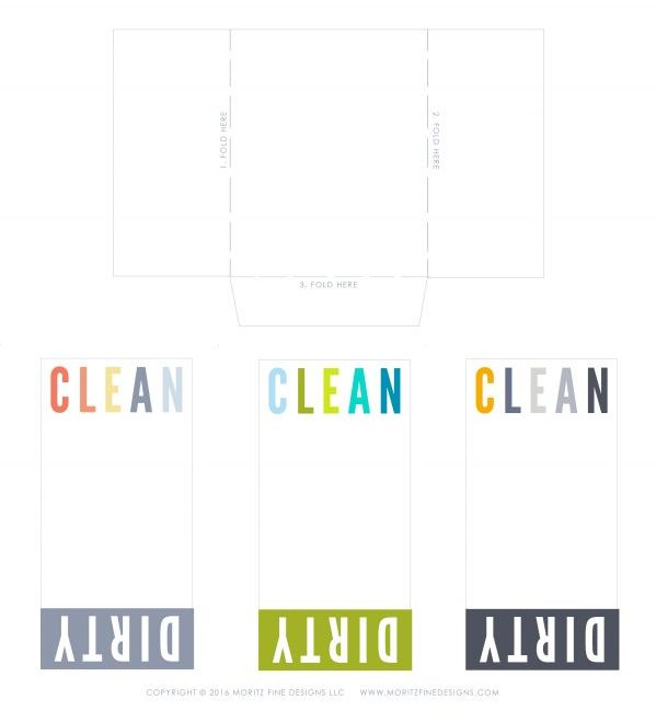 Avoid dishwasher confusion by using this DIY Clean Dirty Dishwasher Sign. Fast and easy to make and looks cute in your kitchen too!