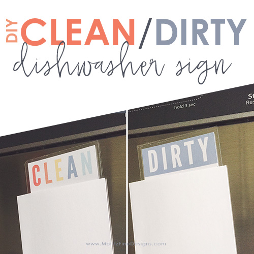Clean Dirty Dishwasher Sign