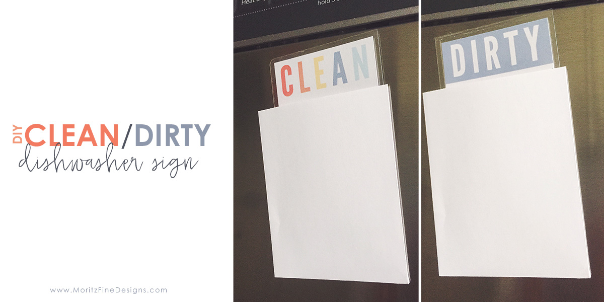 diy clean dirty dishwasher sign