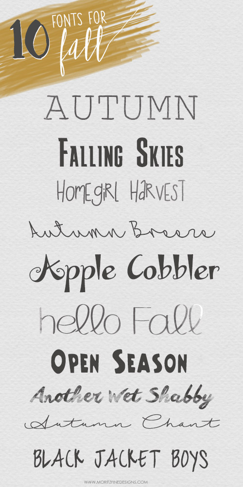 You will love these must-have 10 Free Fonts for fall. They are fresh and inspiring and the best part is that they are free to use.