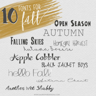 10 Free Fonts for Fall